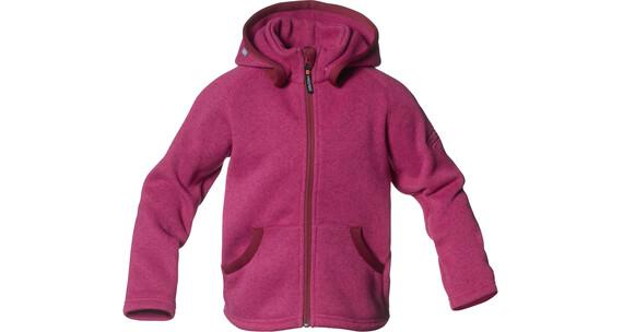 Isbjörn Kids Rib Sweater Hood Fuschia